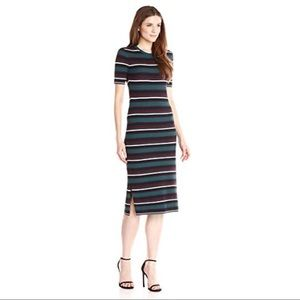 Theory Delissa Textured Stripe Short Sleeve Knit